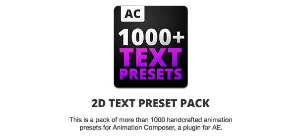2d Text Preset Pack For Animation Composer Plug In